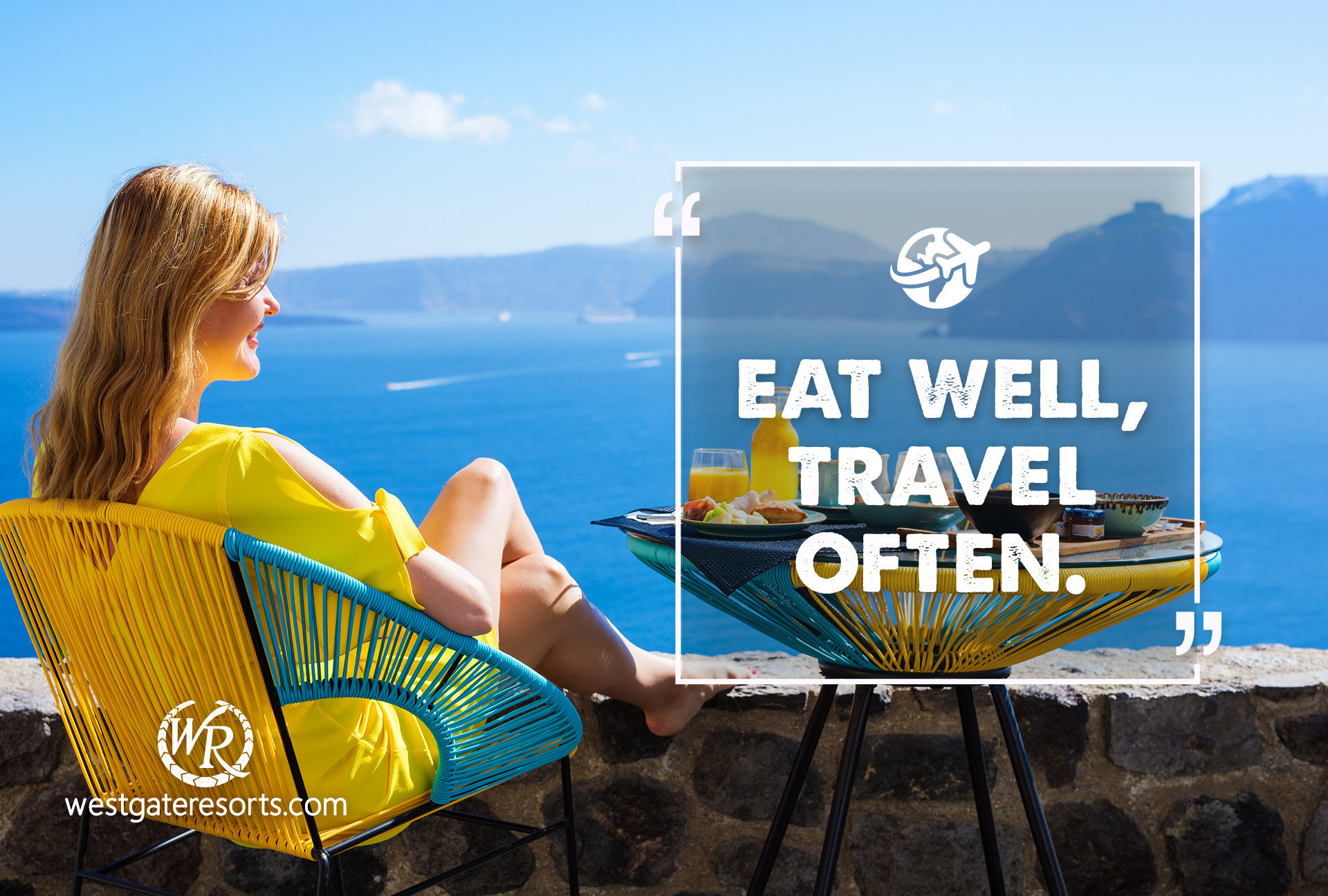 Eat Well, Travel Often. | Travel Motivational Quotes | Quotes About Travel