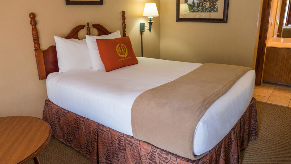 Queen Guestroom at one of our Pigeon Forge Resorts | Wild Bear Inn | Westgate Resorts in the Smoky Mountains