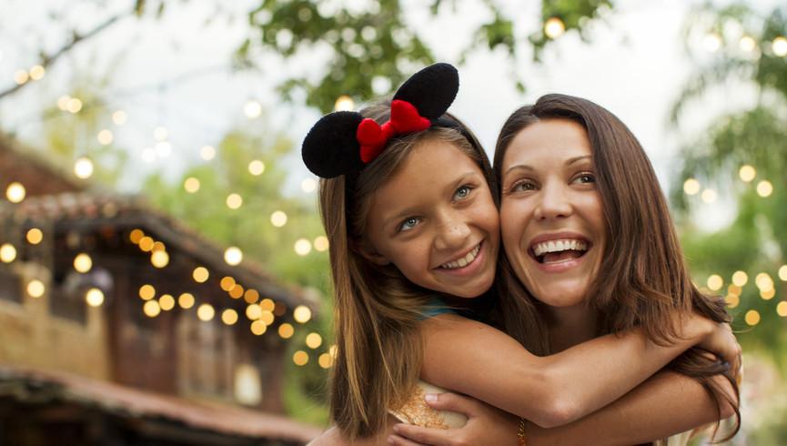 Mother Daughter Hug At Walt Disney World