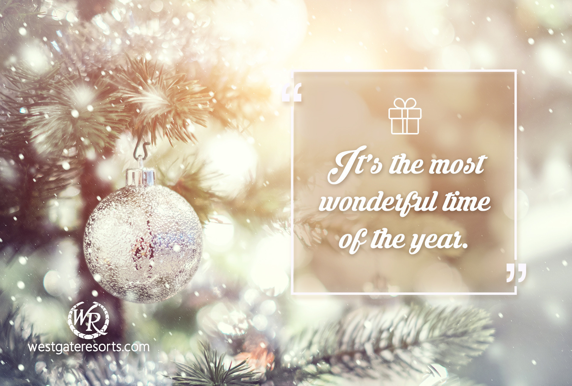 It's the Most Wonderful Time of the Year. | Holiday Travel Quotes | Quotes About Travel For Holidays