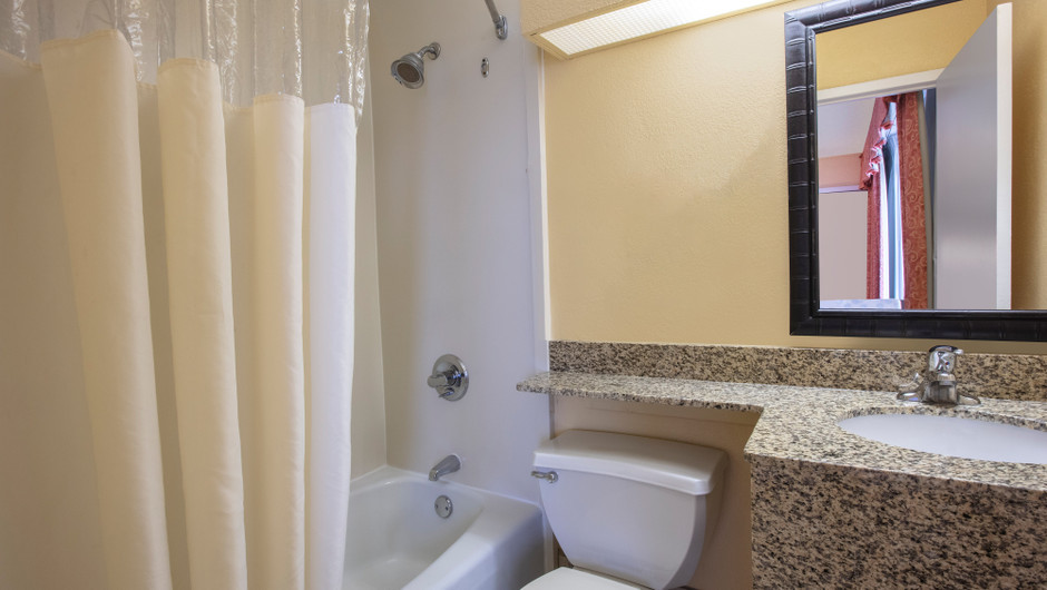 Bathroom in our King Coastal View Guestroom | Westgate Myrtle Beach Resort