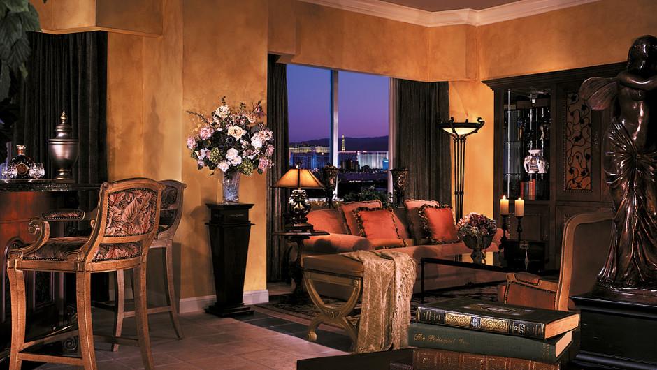 Sitting area in Napa Suite - Las Vegas Resort & Casino