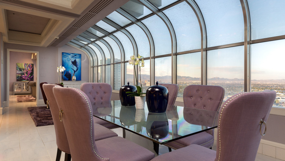 Dining Area with city views in the Bahamas Suite - Westgate Las Vegas Resort & Casino