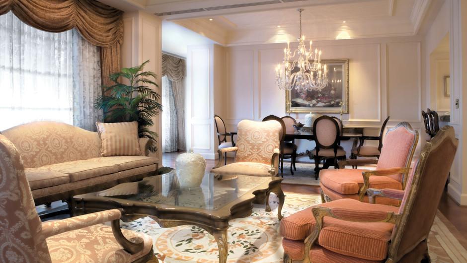 Living Area in the Regal Suite - Westgate Las Vegas Resort & Casino