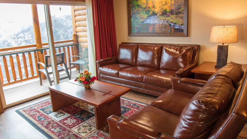 1 Bedroom Suites at Our Gatlinburg Resort near the Smoky Mountains | Spacious Living