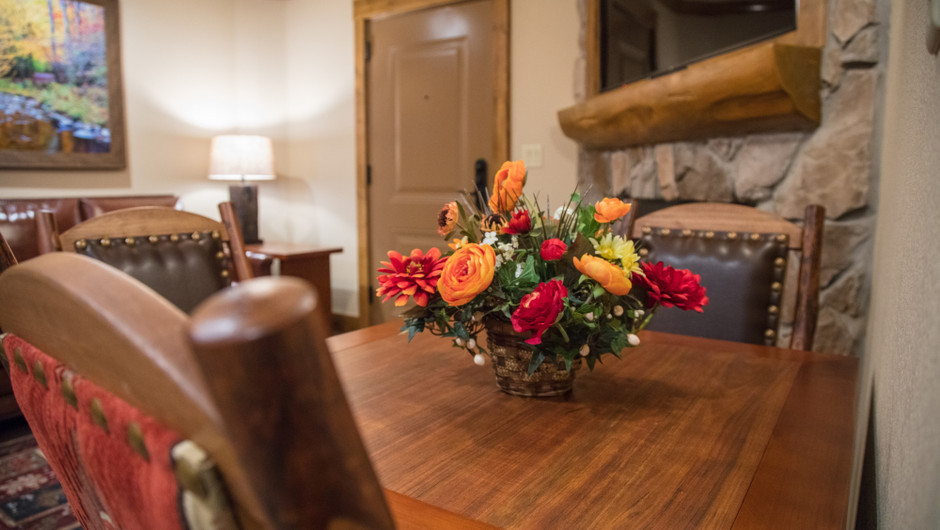 1 Bedroom Villa Suite at Our Gatlinburg Resort near the Smoky Mountains | Dining Area