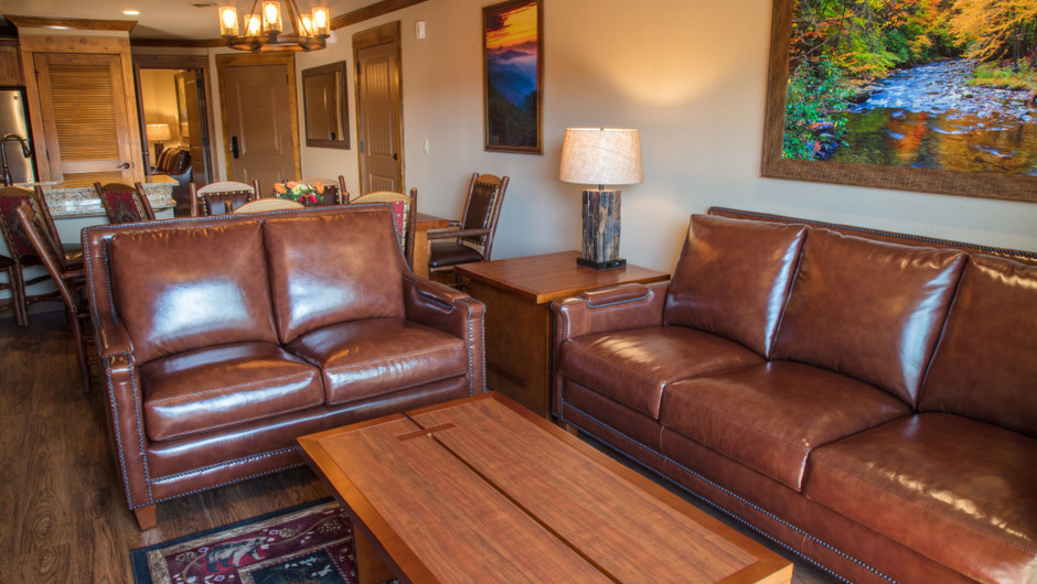 2 Bedroom Villas Suites at Our Gatlinburg Resort near the Smoky Mountains | Comfortable Couches