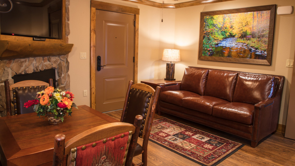1 Bedroom Villa Suite at Our Gatlinburg Resort near the Smoky Mountains | Spacious Living Area