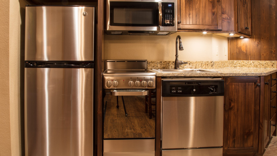 2 Bedroom Villas Suites at Our Gatlinburg Resort near the Smoky Mountains | Kitchen Area