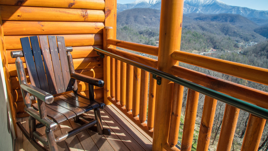 2 Bedroom Villas Suites at Our Gatlinburg Resort near the Smoky Mountains | Balcony View