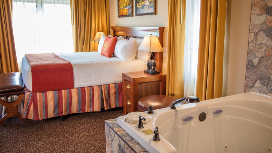 2 Bedroom Villas Suites at Our Gatlinburg Resort near the Smoky Mountains | Spacious Bedroom