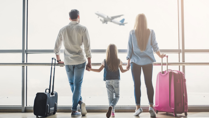 Transportation to our Las Vegas Hotel and Casino | Family at Airport