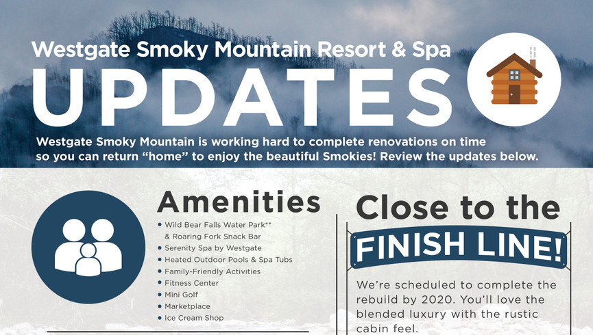 Gatlinburg Resort near the Smoky Mountains | Rebuilding Infographic