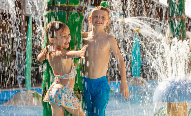 Discover a Cocoa Beach water park hotel: Westgate Cocoa Beach Resort! Wakulla Falls Water Park features a Splash Pad, Lazy River and Heated Pool for wet fun in the sun.
