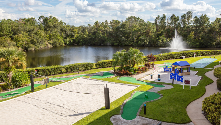 Sand volleyball court at one of our leisure resorts near Seaworld Orlando FL | Westgate Leisure Resort | Westgate Resorts