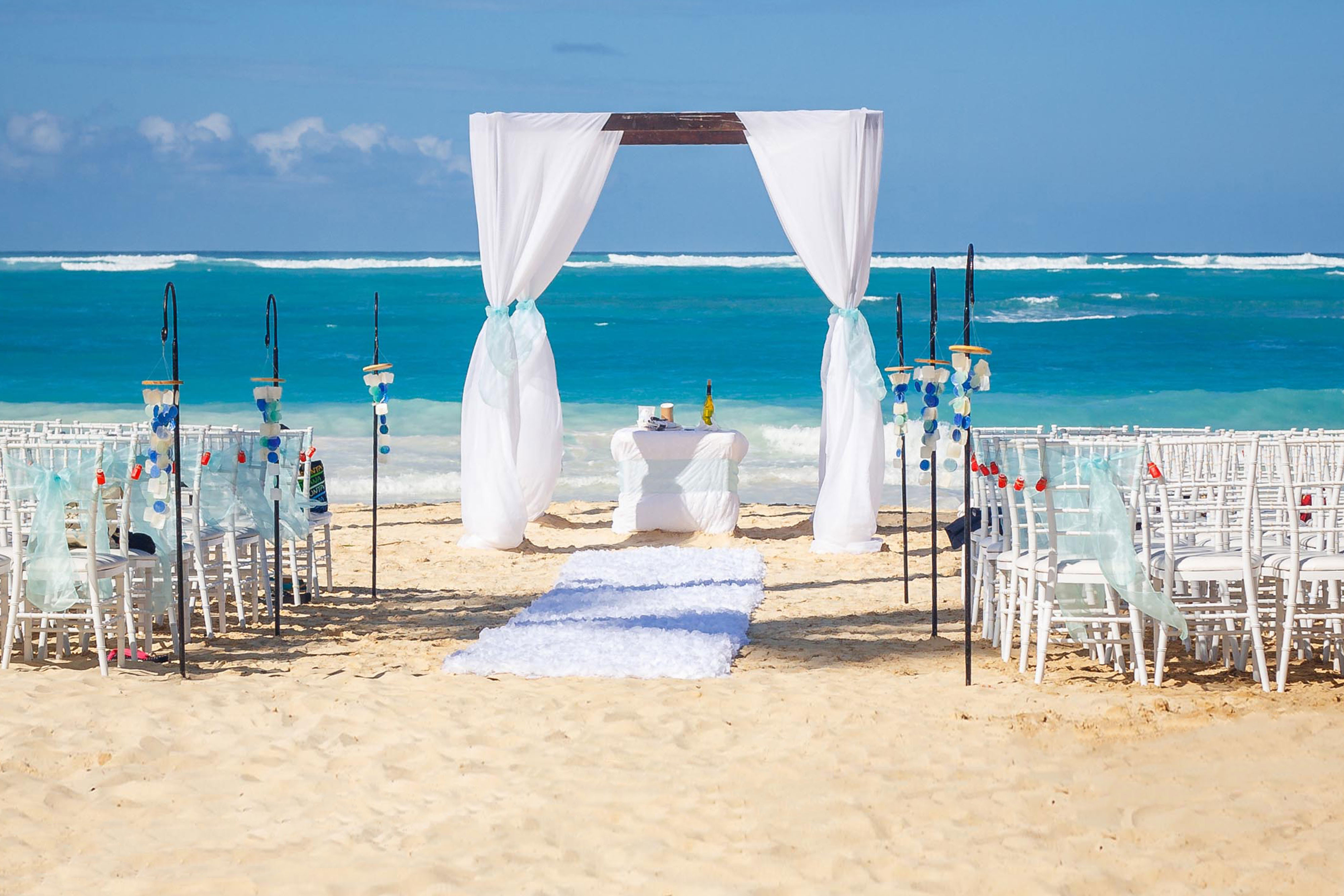 Wedding Venue With Accommodations On Site In Cocoa Beach - Ceremony site on the beach