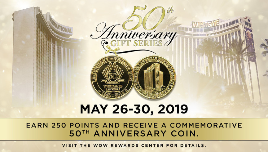 Celebrate 50 years of Legendary Vegas Fun with Westgate Las Vegas Resort & Casino