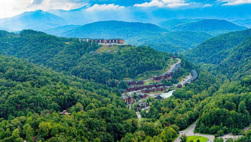 Aerial views of Westgate Smoky Mountain - Westgate Smoky Mountain Resort