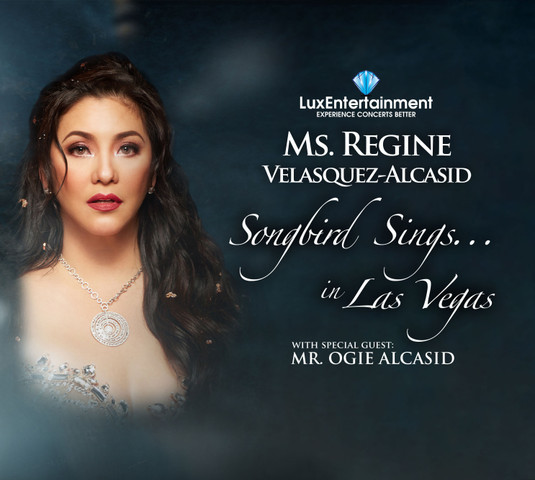 Regine Velasquez Alcasid with Special Guest Ogie Alcasid will appear on May 18, 2019, in Las Vegas NV at Westgate Las Vegas Resort & Casino