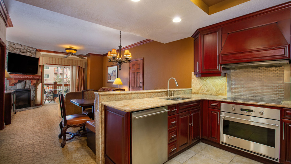Kitchen in our Luxury Two-Bedroom Villa - Park City Resort in Utah | Westgate Park City Resort & Spa | Westgate Resorts
