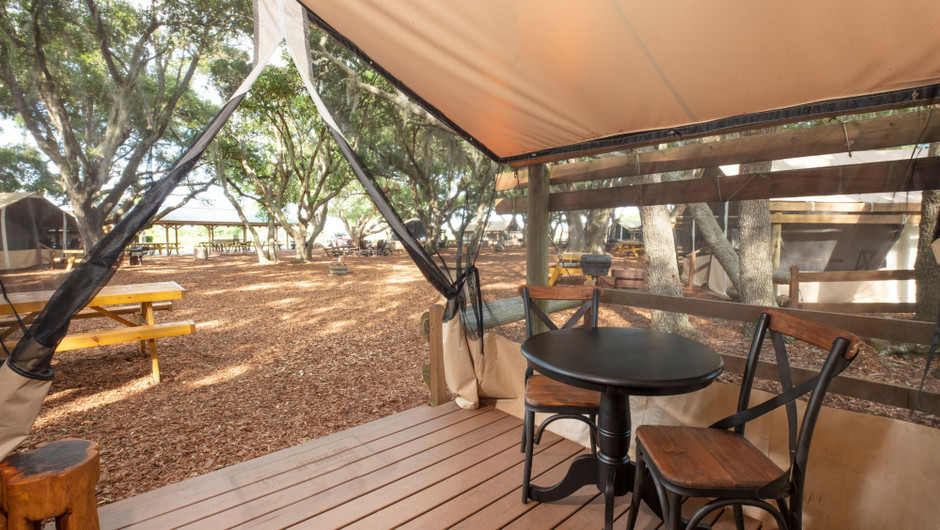Outdoor Area at our glamping resorts in River Ranch Florida | Florida Glamping | Westgate River Ranch Resort