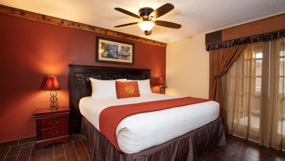 Bedroom in our Lodge One-Bedroom Cottage |  Westgate River Ranch Resort & Rodeo | Westgate Resorts