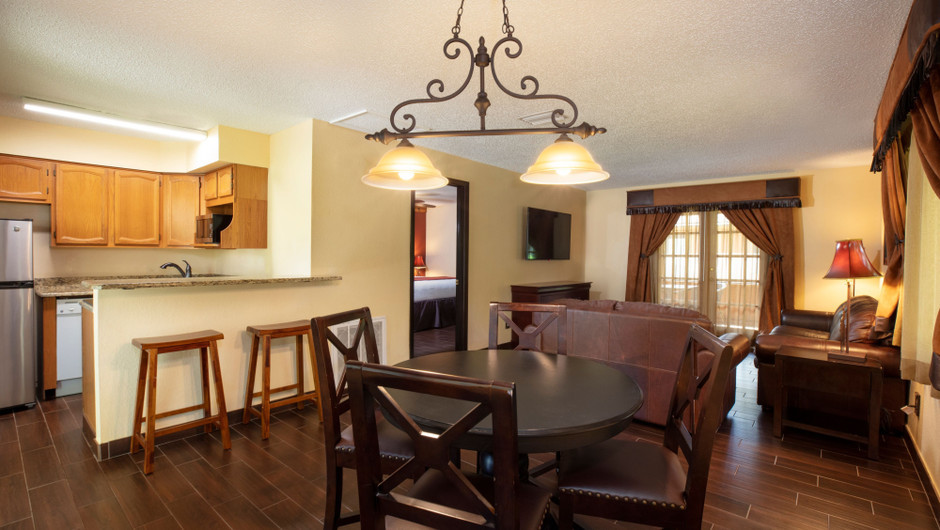 Dining Area in our Lodge One-Bedroom Cottage |  Westgate River Ranch Resort & Rodeo | Westgate Resorts