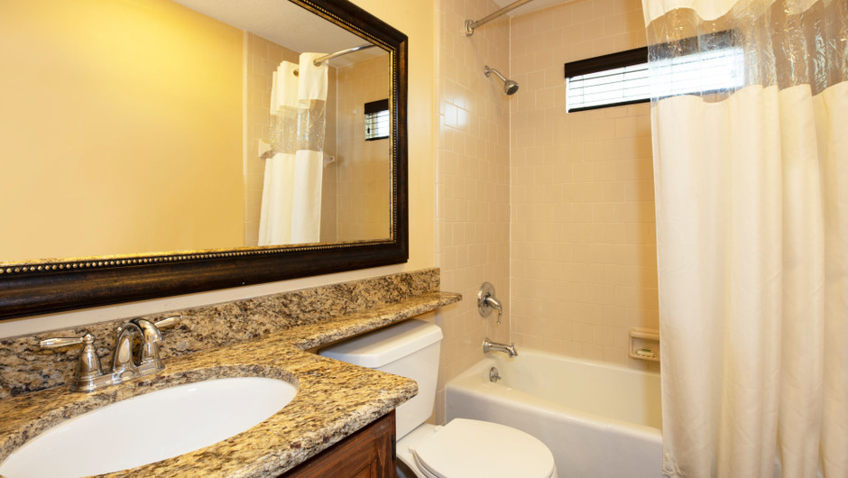 Bathroom in our Lodge One-Bedroom Cottage |  Westgate River Ranch Resort & Rodeo | Westgate Resorts
