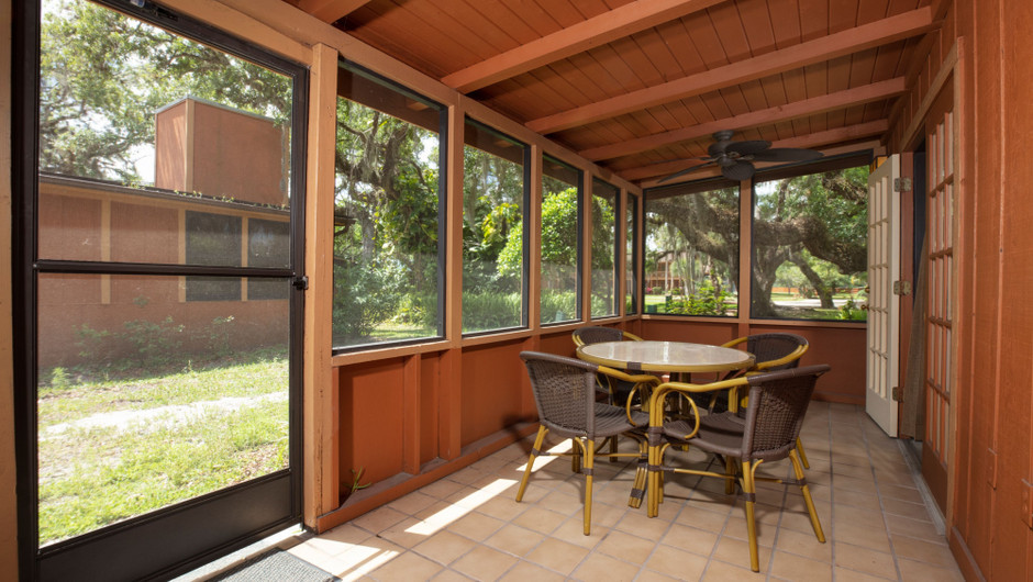 Outdoor Patio in our Lodge One-Bedroom Cottage |  Westgate River Ranch Resort & Rodeo | Westgate Resorts