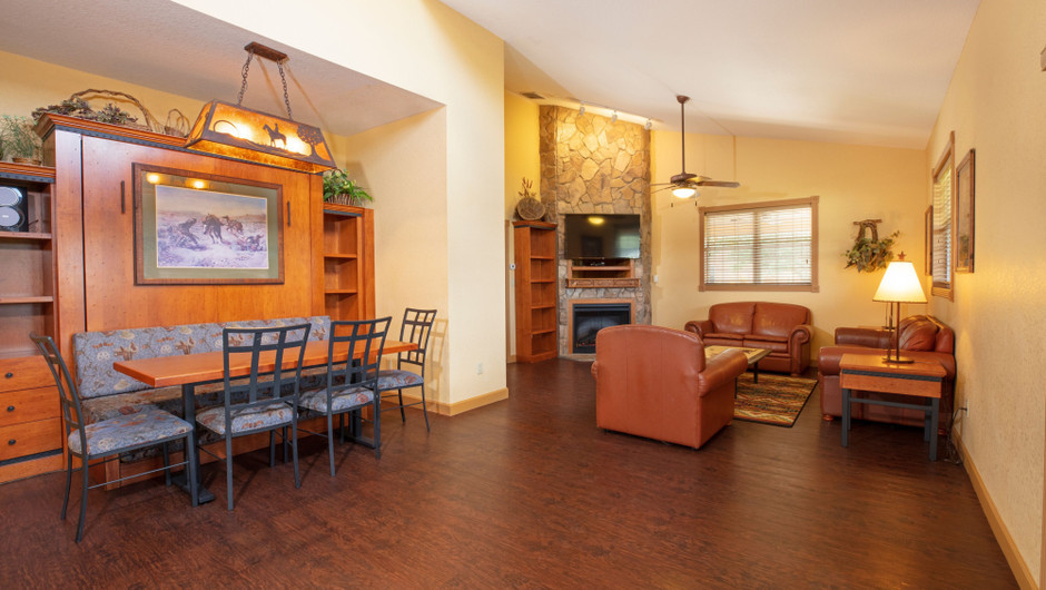 Living Area in our Saddle Club One-Bedroom Grand Cabin |  Westgate River Ranch Resort & Rodeo | Westgate Resorts