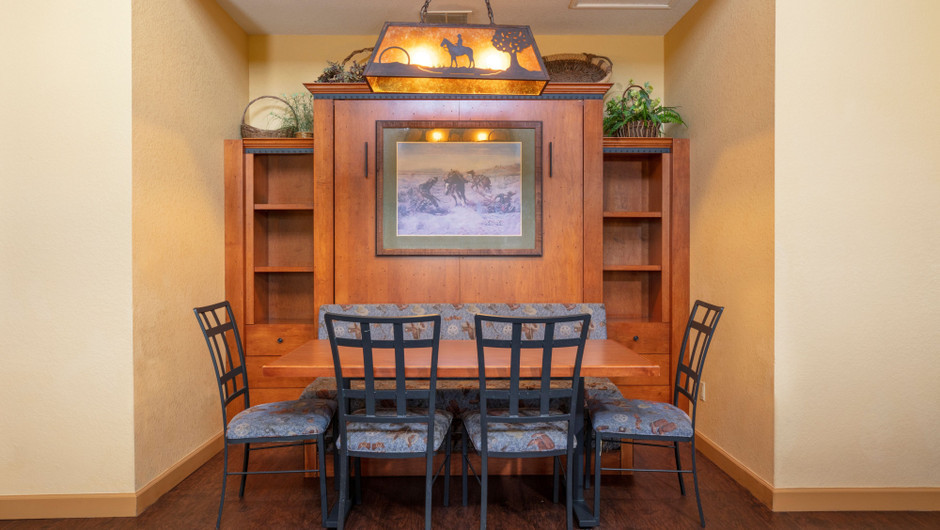 Dining Area in our Saddle Club One-Bedroom Grand Cabin |  Westgate River Ranch Resort & Rodeo | Westgate Resorts
