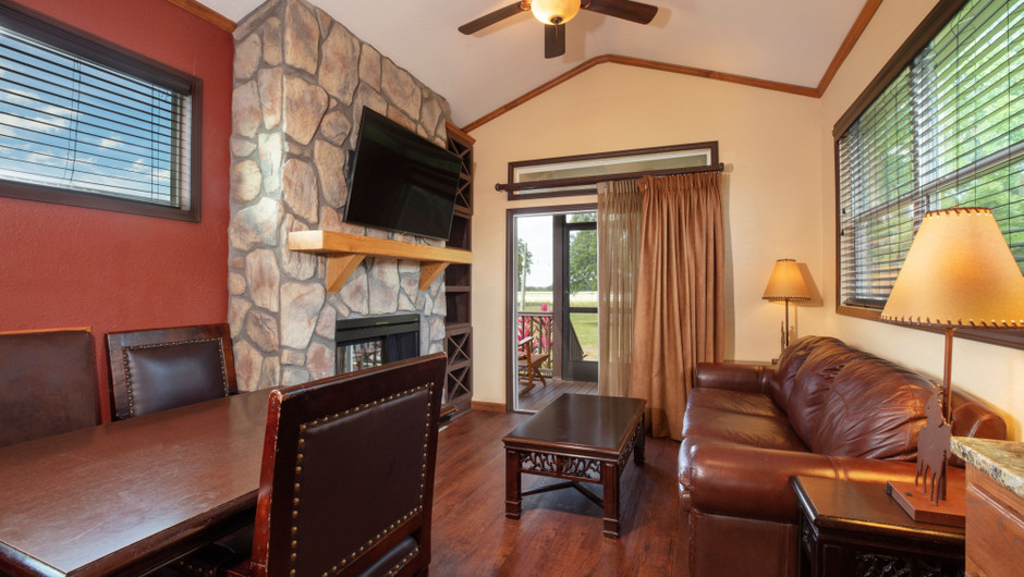 Living Area in our Saddle Club Rail Car - Westgate River Ranch Resort & Rodeo