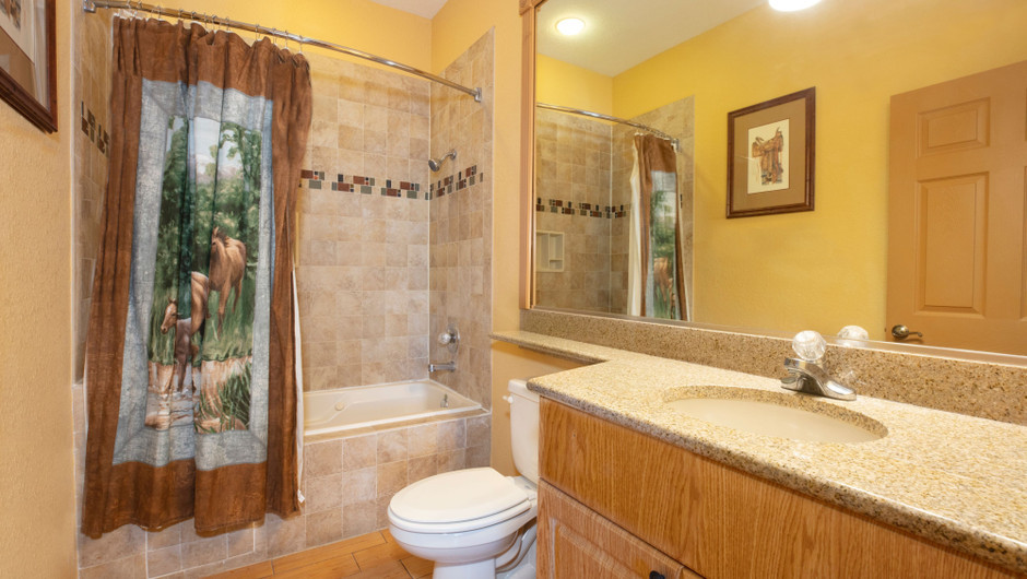 Bathroom in our Saddle Club Studio Cabin -  Westgate River Ranch Resort & Rodeo | Westgate Resorts