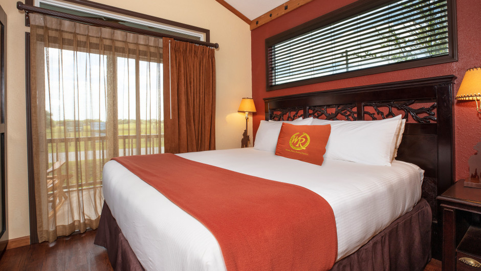 Bedroom in our Saddle Club Rail Car -  Westgate River Ranch Resort & Rodeo