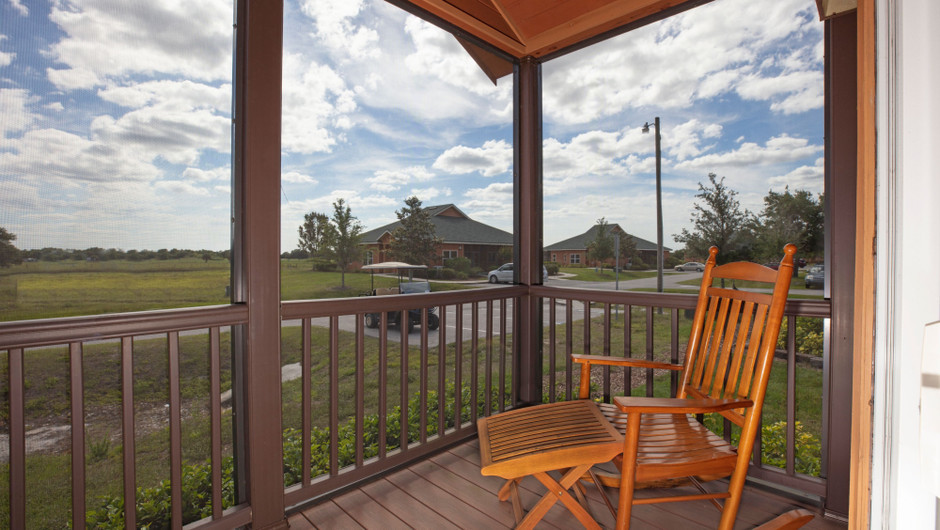 Patio in our Saddle Club Rail Car |  Westgate River Ranch Resort & Rodeo | Westgate Resorts