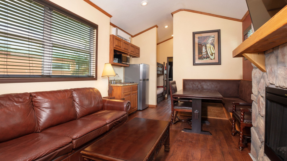 Living Area in our Saddle Club Rail Car |  Westgate River Ranch Resort & Rodeo | Westgate Resorts