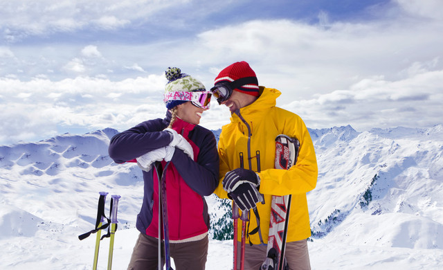 Free Things To Do In Park City Utah | Couple Skiing Near Westgate Hotel In Park City