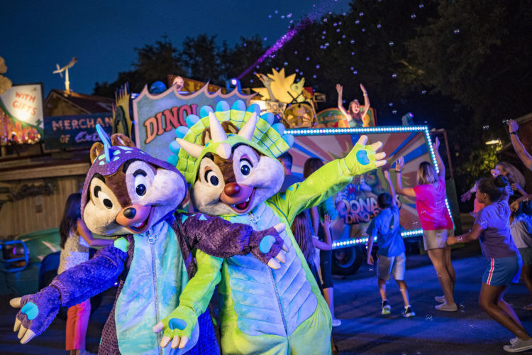 Chip & Dale at Donald's Dino Bash at Disney's Animal Kingdom