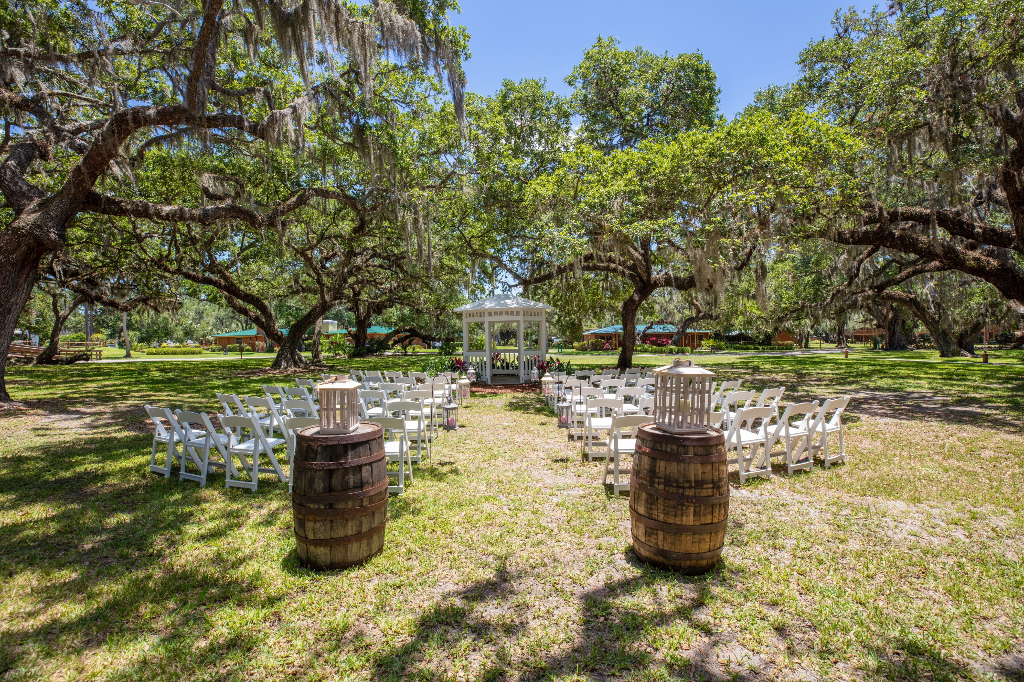 Country Wedding Setup - Westgate River Ranch