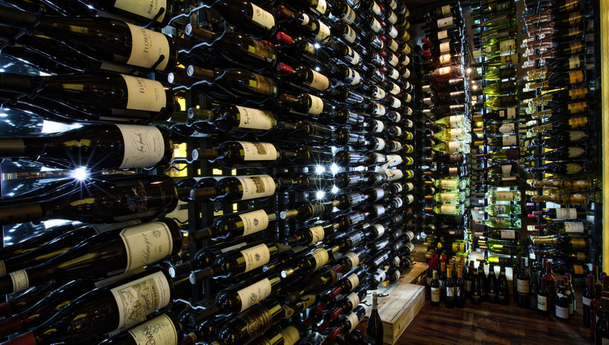 Best Things To Do At Night In Park City Utah | Wine Room At Our Hotel In Park City