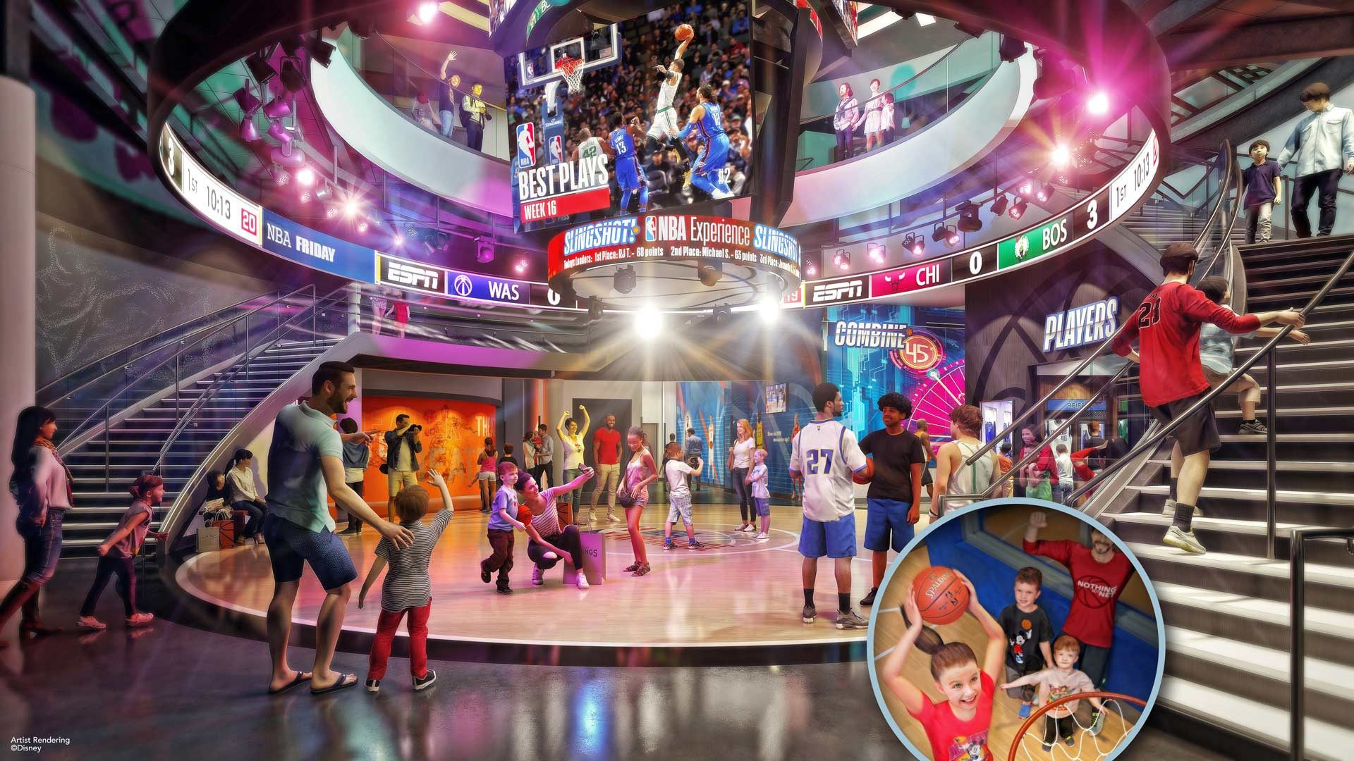 NBA Experience At Disney Springs®: A Slam Dunk for Fans of All Ages!