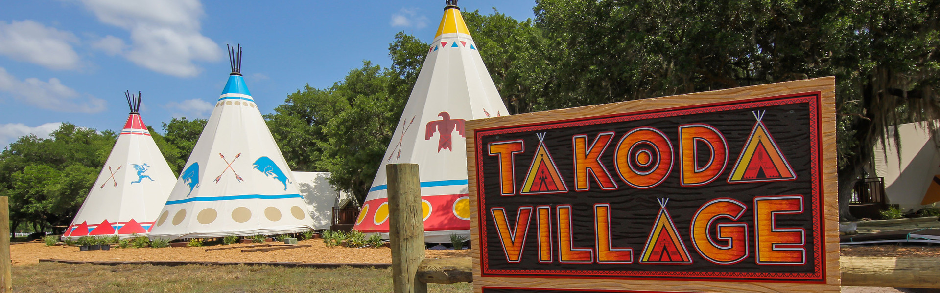 A Teepee Hotel Florida Style | Exterior of Teepee Village At Our Florida Dude Ranch Resort