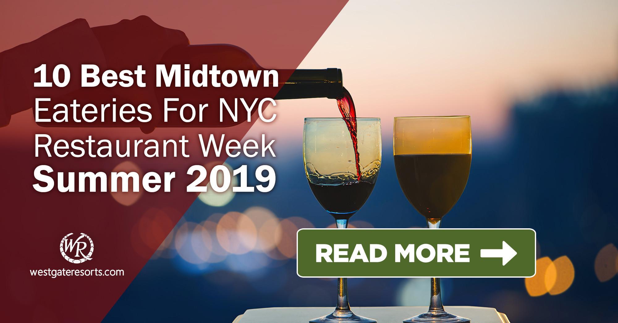 10 Best Midtown Eateries For NYC Restaurant Week Summer 2019