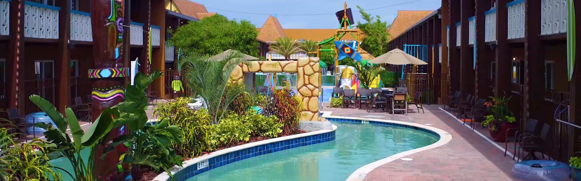Water Parks Resort in Florida at our Hotel near Cocoa Beach | Girl at Water Park