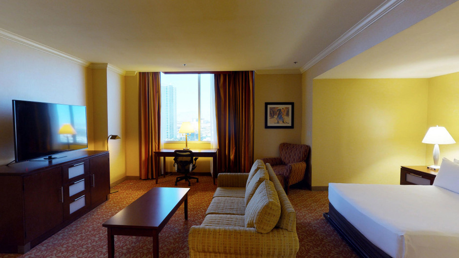 The East Tower Parlors at Westgate Las Vegas Resort & Casino create a cozy getaway spot with 600 square feet of space.