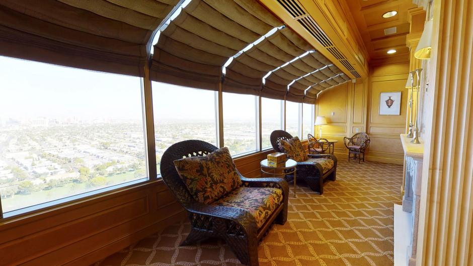 Balcony view in the European Villa - Westgate Las Vegas Resort & Casino
