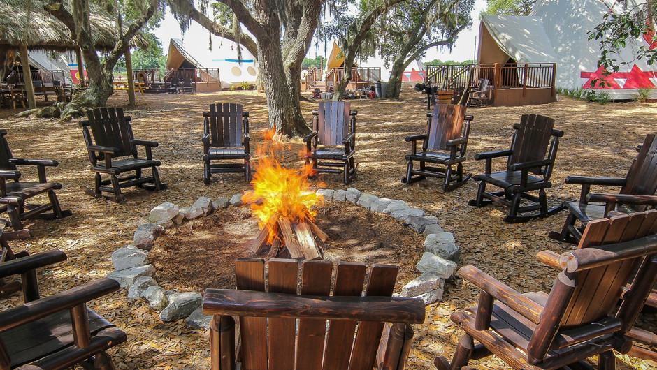 Firepit outside of Luxe Teepees -  Westgate River Ranch Resort & Rodeo