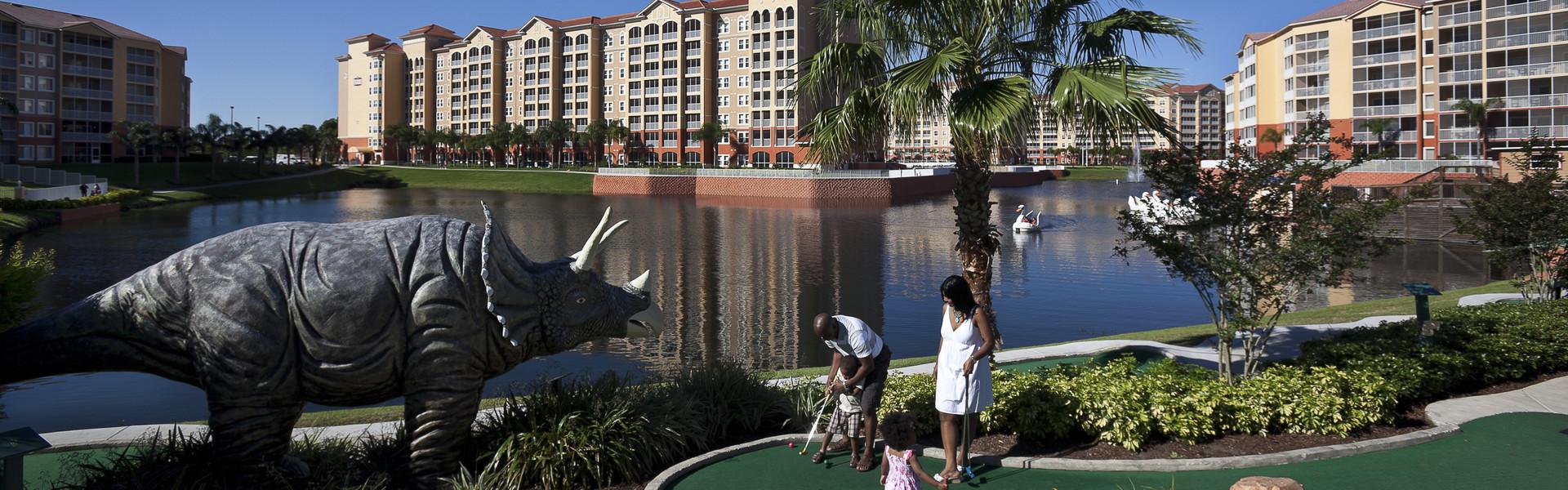 Mini golf in Orlando Florida at our resort   Westgate Lakes Resort & Spa