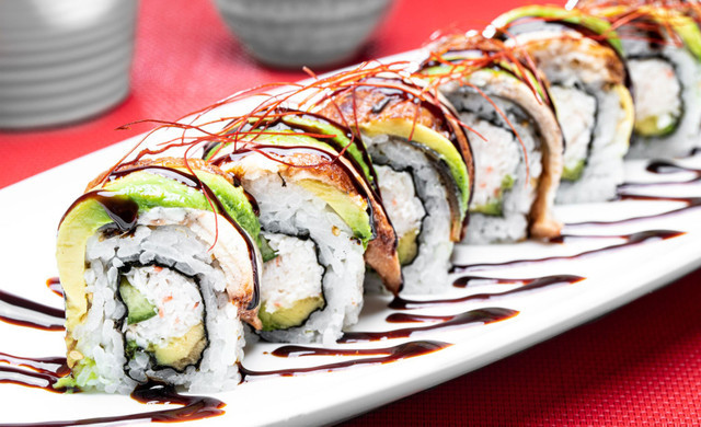 California Roll with Eel & Avocado