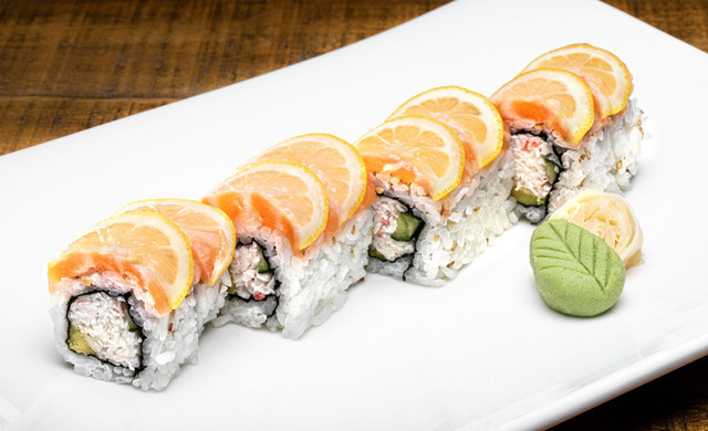 California Roll with Orange Slices
